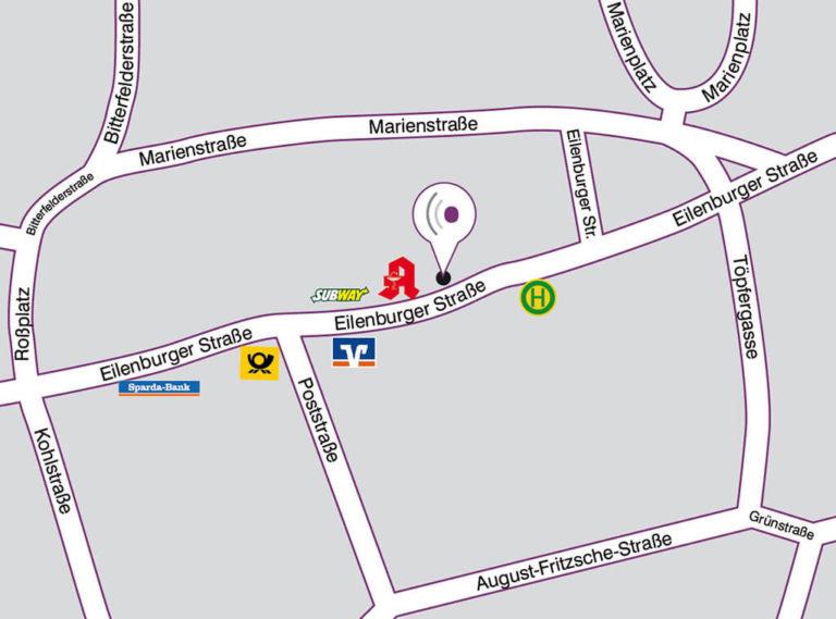 Anfahrt Straßenplan Standort Delitzsch