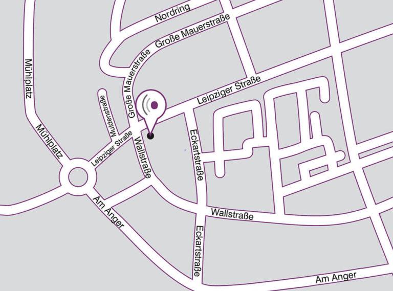 Anfahrt Straßenplan Standort Eilenburg