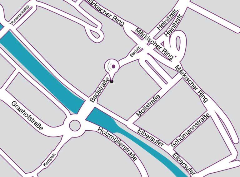 Anfahrt Straßenplan Standort Hagen