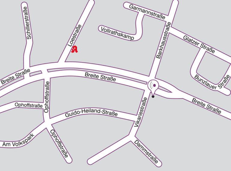 Anfahrt Straßenplan Standort Marl